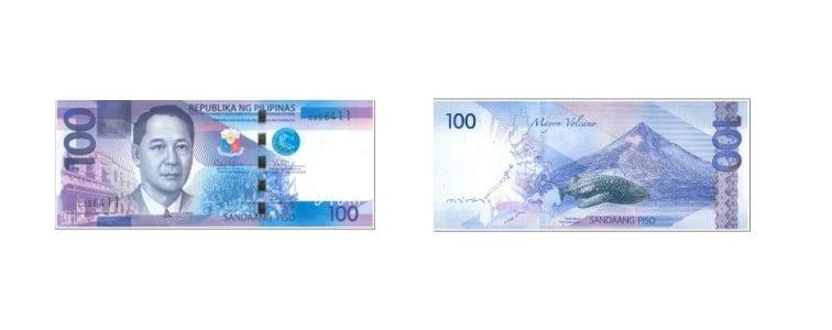mata uang filipina 100 peso filipina