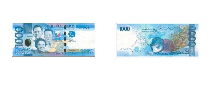 mata uang filipina 1000 peso filipina