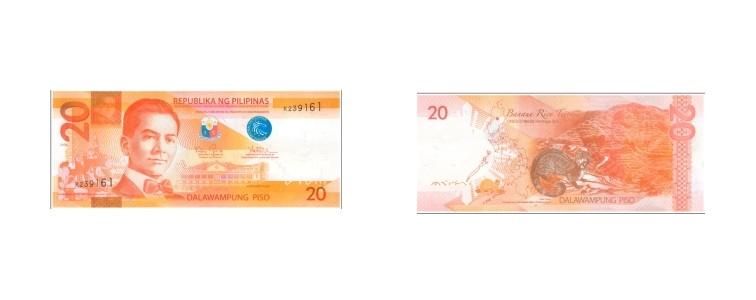 mata uang filipina 20 peso filipina
