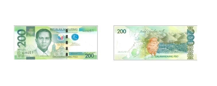 mata uang filipina 200 peso filipina
