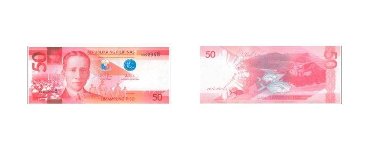 mata uang filipina 50 peso filipina